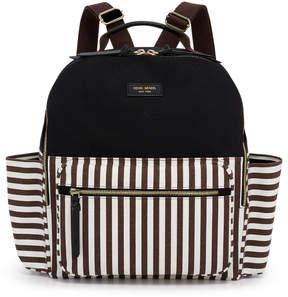 Henri Bendel Striped Canvas Large Backpack