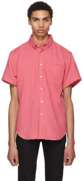 Naked & Famous Denim Denim Pink Double Weave Gauze Shirt