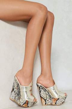Nasty Gal Snake 'Em an Offer Wedge Mule