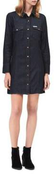 Calvin Klein Jeans Rinse Denim Shirt Dress
