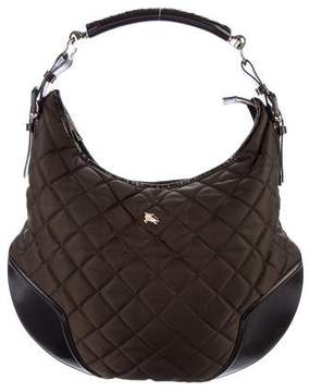 Burberry Quilted Nylon Hobo