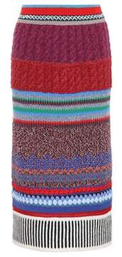 Burberry Cashmere and wool-blend skirt