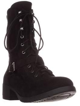 American Rag Ar35 Reighn Casual Lace-up Combat Boots, Black.