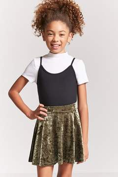 Forever 21 Girls Velvet Mini Skirt (Kids)