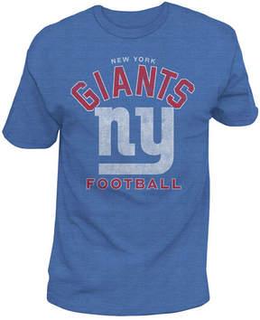 Authentic Nfl Apparel Men's New York Giants Midfield Retro T-Shirt