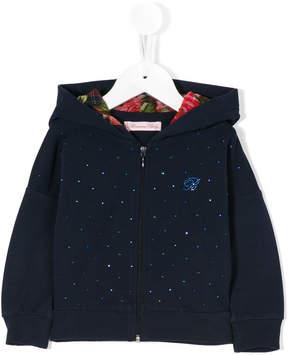 Miss Blumarine embellished hooded jacket