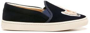 Sole Society Velvet Llama Sneaker Slip on Sneaker
