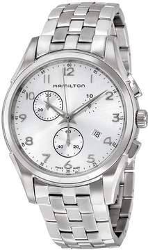 Hamilton Jazzmaster Thinline Chronograph Silver Dial Stainless Steel Men's Watch