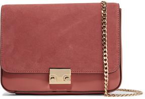 Loeffler Randall Lock Suede And Leather Shoulder Bag - Antique rose