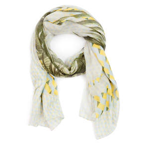 Cuyana Oversized Tropical-Print Scarf