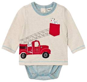 Hatley Beige Fire Truck Applique Tee Body