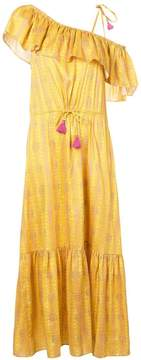Figue Miguelina mandala-print ruffled maxi dress