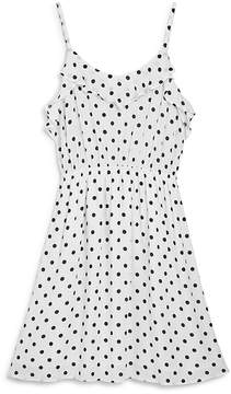 Aqua Girls' Ruffled Polka Dot Dress, Big Kid - 100% Exclusive
