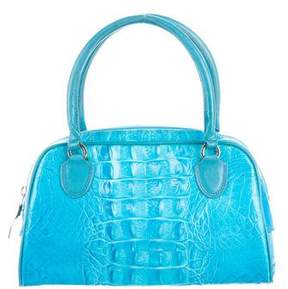 Casadei Embossed Leather Handle Bag