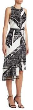 Altuzarra Quartier Silk Printed Sheath Dress