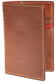 Trask Men's 'Jackson' Bison Leather Passport Holder - Metallic