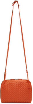 Bottega Veneta Orange Intrecciato Nudini Messenger Bag