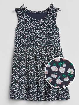 Gap Floral Button-Front Tier Dress
