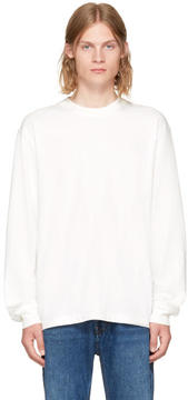 Alexander Wang White Long Sleeve High Twist T-Shirt