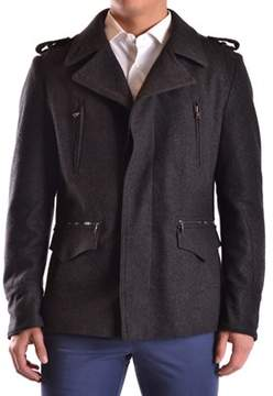 Richmond Men's Grey Wool Coat.