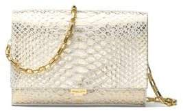 Michael Kors Yasmeen Metallic Clutch - OPTIC WHITE - STYLE
