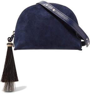 Loeffler Randall Suede Shoulder Bag - Storm blue