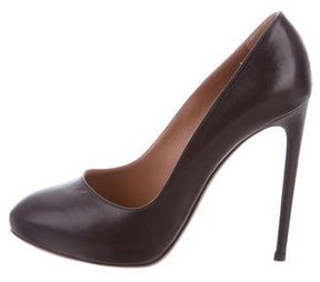 Alaia Leather Round-Toe Pumps