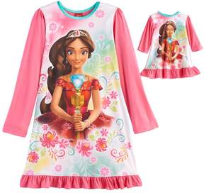 Disney Disney's Elena Avalor Girls 4-8 Nightgown & Doll Gown