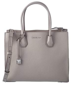 MICHAEL Michael Kors Mercer Large Leather Convertible Tote. - GREY - STYLE