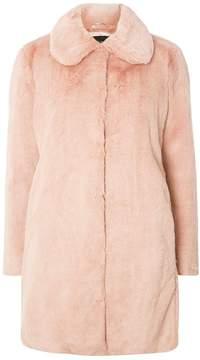 Dorothy Perkins Rose Pink Faux Fur Dolly Coat