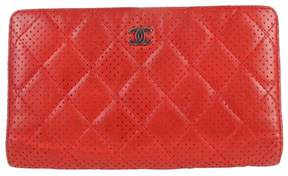 Chanel Red Leather Wallets