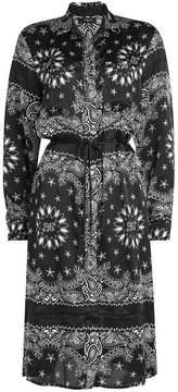 Amiri Bandana Print Silk Shirt Dress