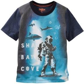 Osh Kosh Boys 4-12 Shark Bay Cove Graphic Tee