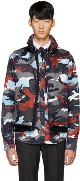 Moncler Gamme Bleu Multicolor Down Camo Vest
