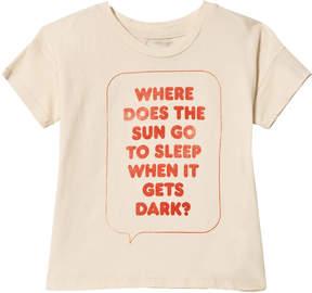 Bobo Choses Off-White Where Does The Sun Short Sleeve T-Shirt
