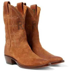 Ralph Lauren Plainview Suede Cowboy Boot Light Java 002 10
