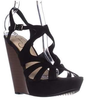 Jessica Simpson Brissah Wedge Sandals, Black.