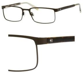 Tommy Hilfiger Eyeglasses T_hilfiger 1235 01IQ Matte Brown Green