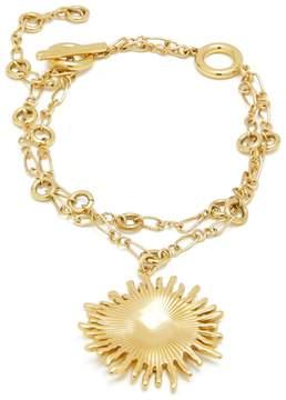 Ellery Crescent sun-charm double-chain bracelet