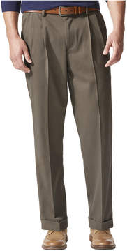 Dockers Stretch Relaxed Fit Comfort Khaki Pants Pleated - Cuffed D4