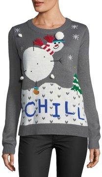 Chelsea & Theodore Chill Snowman Crewneck Sweater