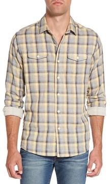 Grayers Men's Sheldon Modern Fit Double Cloth Windowpane Sport Shirt