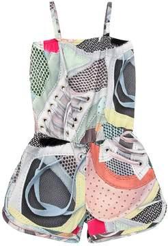 Molo Sneakers Print Cotton Interlock Romper