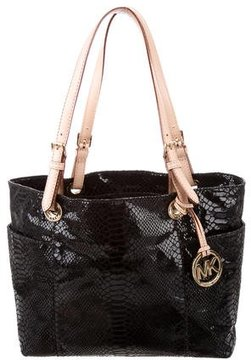 MICHAEL Michael Kors Embossed Jet Set Tote - ANIMAL PRINT - STYLE