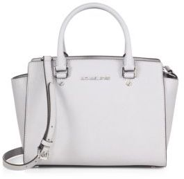 MICHAEL Michael Kors Selma Medium Satchel - CEMENT - STYLE