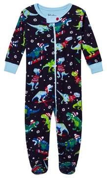 Hatley Navy Christmas Dino Print Babygrow
