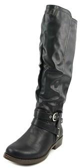 XOXO Womens Martin Closed Toe Mid-calf Fashion Boots Fashion, Black, Size 7.5.