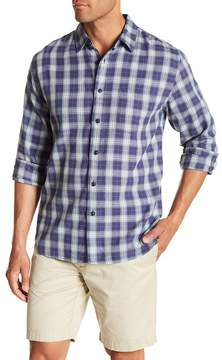 Grayers Walden Plaid Print Slub Twill Regular Fit Woven Shirt