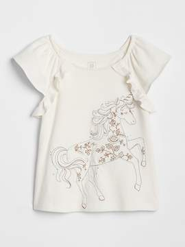 Gap Embroidered Graphic Flutter T-Shirt