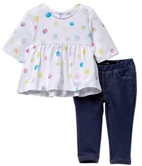Joe's Jeans Tunic & Leggings Set (Baby Girls)